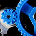 3D printer herringbone gears close up